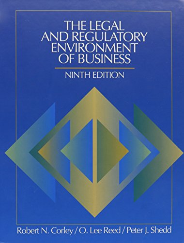 9780070133068: The Legal and Regulatory Environment of Business