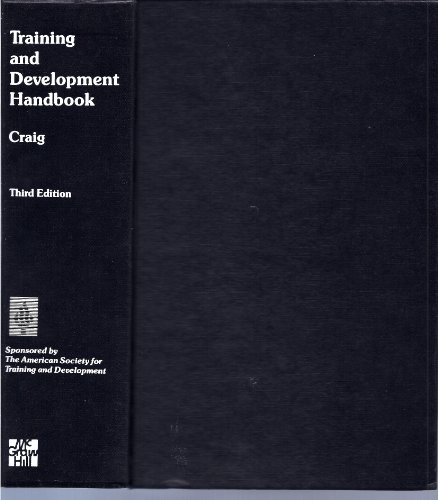 9780070133532: Training and Development Handbook a Guide to Human Resource Development