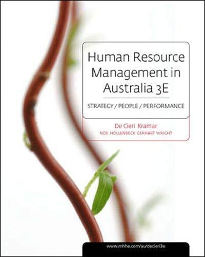 9780070135031: Human Resource Management in Australia