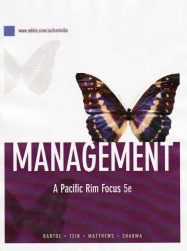 9780070135055: Management: A Pacific Rim Focus