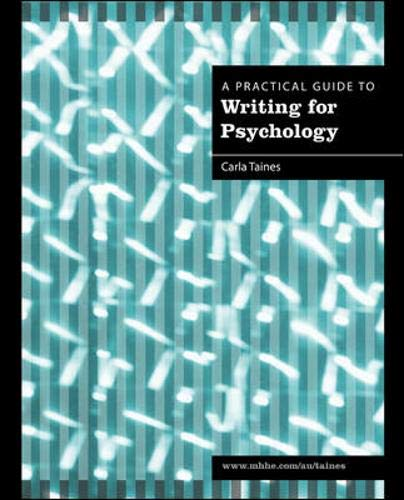 9780070135086: A Practical Guide to Writing for Psychology