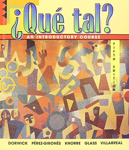 9780070136816: Que Tal: An Introductory Course
