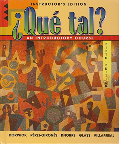 9780070136823: Que Tal? Introductory Course- Instructor's Edition