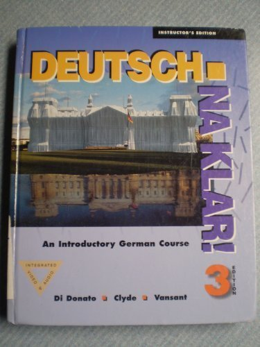 9780070137059: Deutsch, Na Klar: An Introductory German Course (English and German Edition)