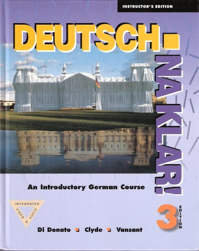 9780070137066: Deutsch, Na Klar: An Introductory German Course. 3rd Edition