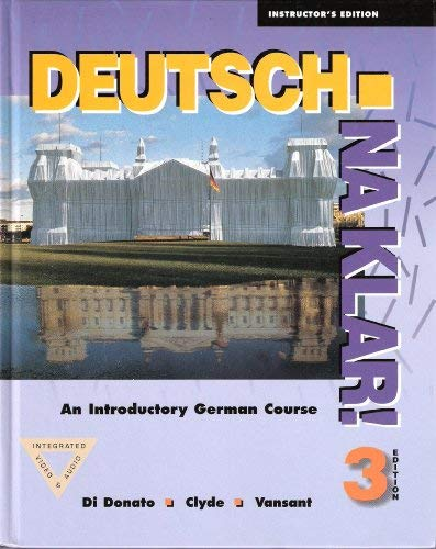 9780070137066: Deutsch, Na Klar: An Introductory German Course. 3rd Edition