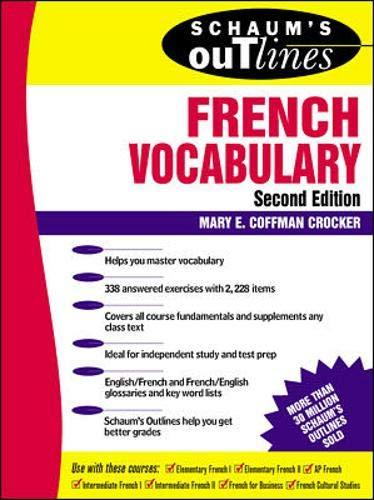 9780070138865: Schaum's Outline of French Vocabulary