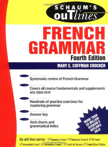 9780070138872: Schaum's Outline of French Grammar