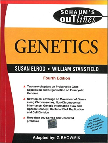 Genetics - Sie 4th Edn: Susan Elrod And