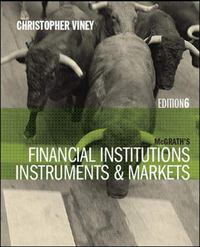 9780070140899: Financial Institutions Instruments & Mar