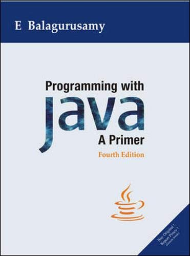 9780070141698: Programming with Java: A Primer
