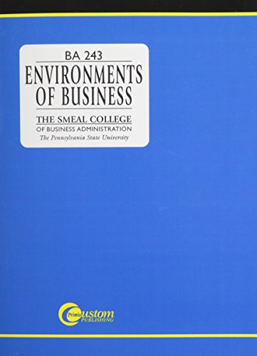 9780070143494: Environments of Business: Ba 243