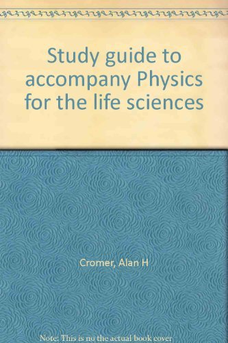 9780070144330: Study guide to accompany Physics for the life sciences