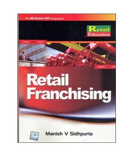 9780070145030: RETAIL FRANCHISING