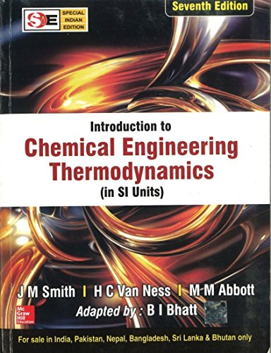 9780070145870: Introduction To Chemical Engineering Thermodynamics