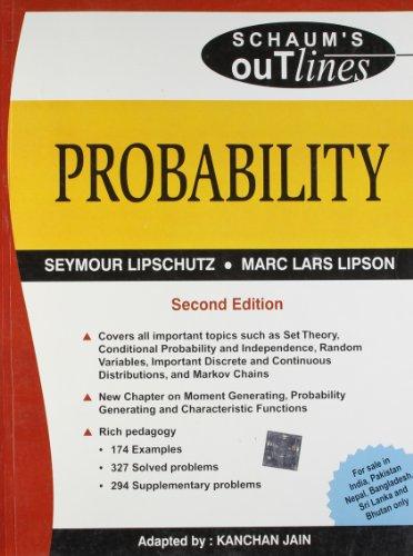 Probability, (Special Indian Edition) (Schaum?s Outline Series): Kanchan Jain,Seymour Lipschutz
