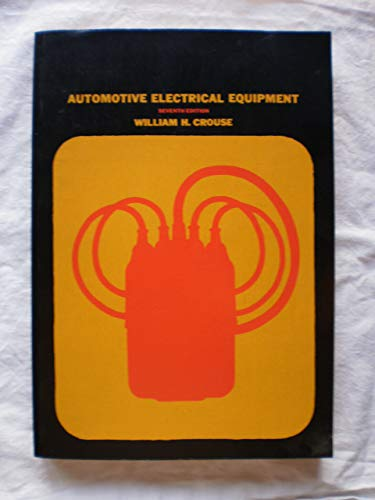 9780070146655: Automotive Electrical Equipment