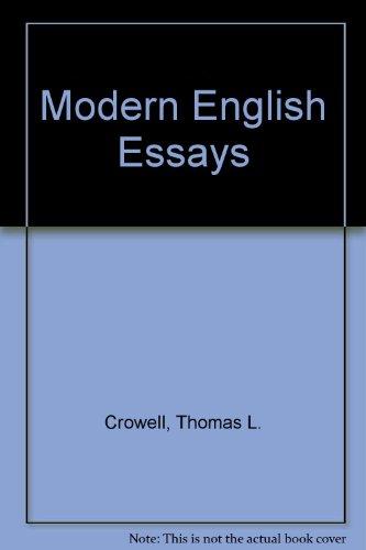 9780070147331: Modern English essays.