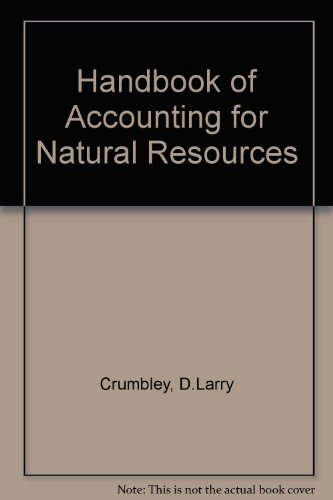Handbook of Accounting for Natural Resources