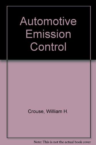 9780070148161: Automotive Emission Control