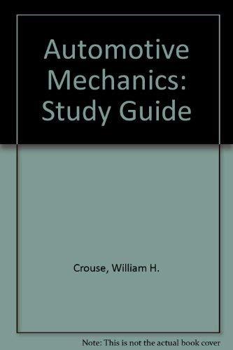 9780070148215: Automotive Mechanics: Study Guide