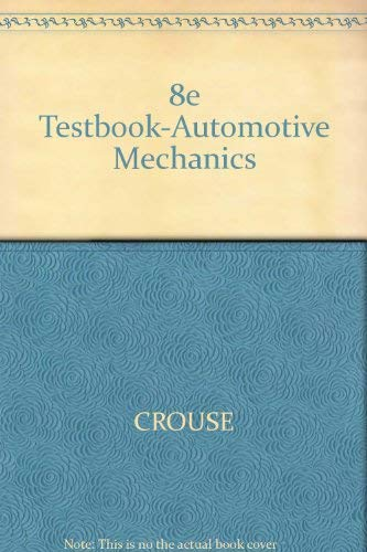 9780070148239: 8e Testbook-Automotive Mechanics