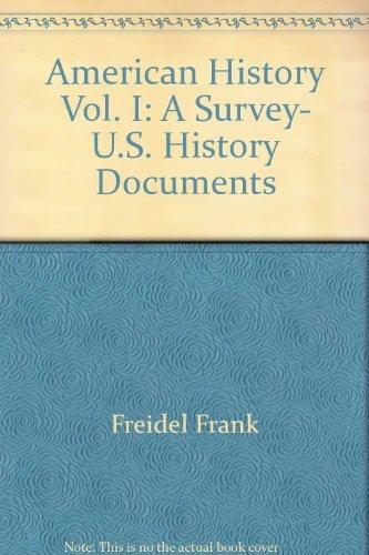 9780070149793: American History Vol. I: A Survey, U.S. History Documents