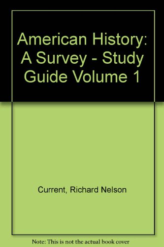 9780070150294: American History: A Survey - Study Guide Volume 1
