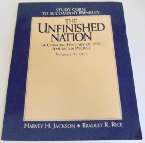 9780070150652: Study Guide to Accompany Brinkley The Unfinished Nation A Concise History of the American People