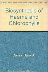 9780070150881: Biosynthesis of Haeme and Chlorophylls