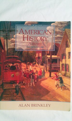 9780070150973: American History: A Survey, Vol. 2 (9th Edition)