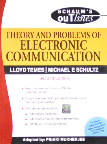 9780070151444: THEORY & PROBLEMS OF ELECTRONIC COMMUNICATION: Schaum's Outlines Series