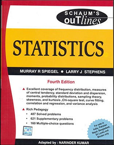9780070151536: Statistics, 4/e (Schaum's Outline Series) (SIE)