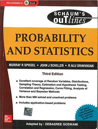 9780070151543: Probability and Statistics (Schaum's Outline Series)