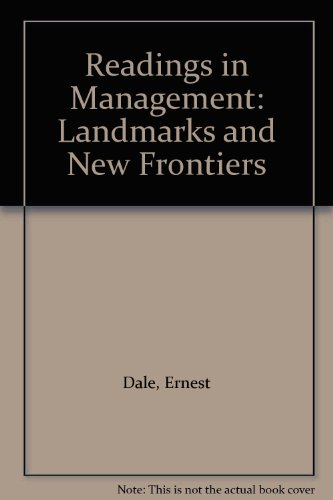 9780070151611: Readings in Management: Landmarks and New Frontiers