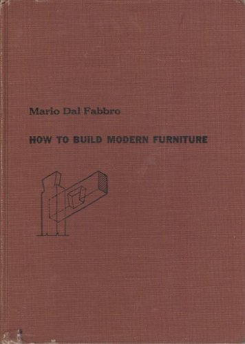 9780070151758: How to build modern furniture