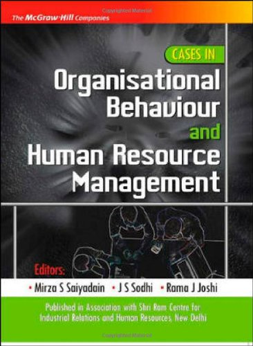 9780070152571: Cases in Organizational Behaviour and Human Resource Management