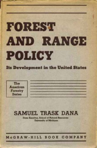 9780070152854: Forest and Range Policy (American Forestry)