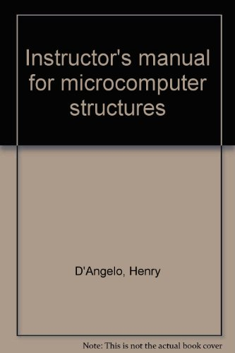 9780070152984: Instructor's manual for microcomputer structures