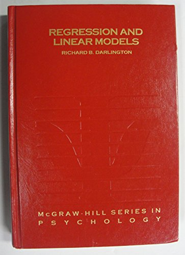 9780070153721: Regression and Linear Models