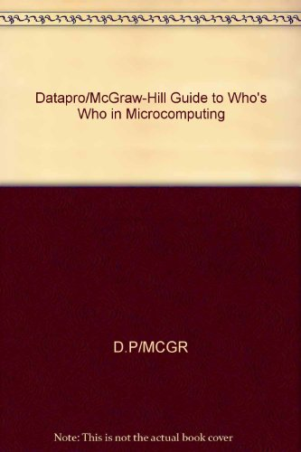 Datapro Who's Who in Microcomputing 1983: Datapro Research Corporation