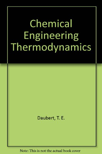 9780070154131: Chemical Engineering Thermodynamics (McGraw-Hill chemical engineering series)