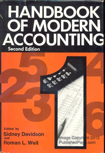 9780070154513: Handbook of modern accounting