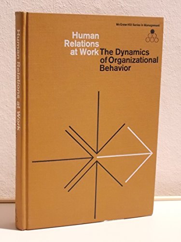 9780070154834: Human Relations at Work