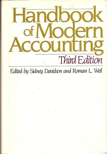 9780070154926: Handbook of Modern Accounting