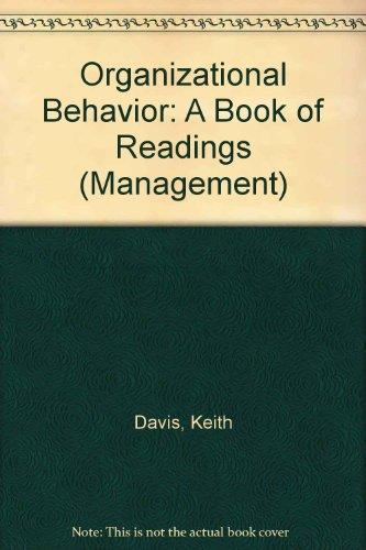 9780070155008: Organizational Behavior: A Book of Readings (Management)