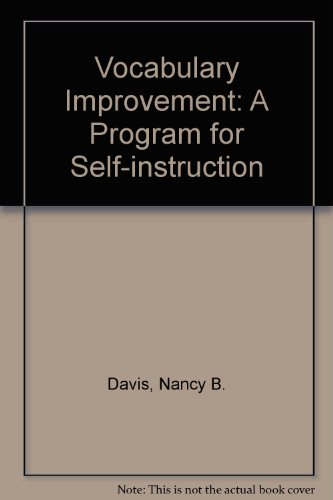 9780070155145: Vocabulary improvement: a program for self-instruction,