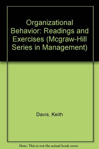 9780070155190: Organizational Behavior: Readings and Exercises (Mcgraw-Hill Series in Management)