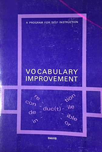 9780070155435: Vocabulary Improvement: A Program for Self-Instruction