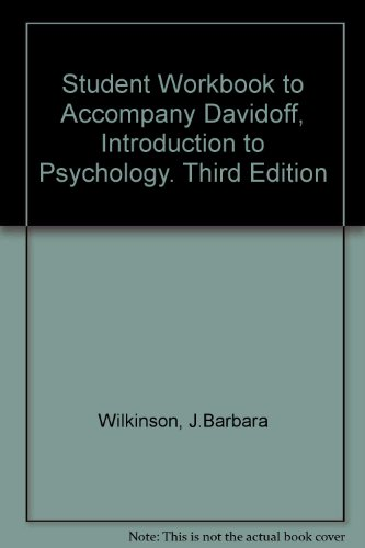 9780070155466: Student Workbook to Accompany Davidoff, Introduction to Psychology. Third Edition
